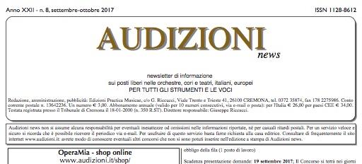Audizioni news 8/2017