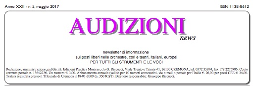 AUDIZIONI news - newsletter di informazione